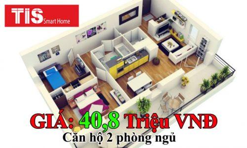 Giá lắp đặt thiết bị căn hộ thông minh 2 Phòng Ngủ
