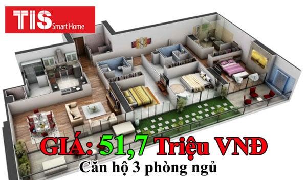 giá lắp đặt smarthome cho căn hộ 3 phòng ngủ