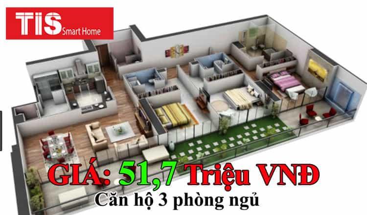 Trọn gói lắp đặt smart home cho căn hộ 3 phòng ngủ